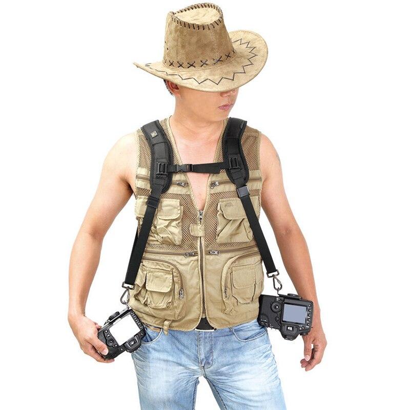 Correa de cámara HAOBA profesional doble correa de hombro absorción de golpes resistencia rápida fotografía para cámara SLR