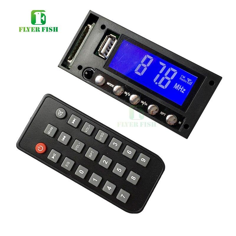English ver Bluetooth MP3 Player Module Support 8GB/16GB SD USB Blue LED Screen FM DC/AC 12V Stereo Mono Sound Car MP3 decoding