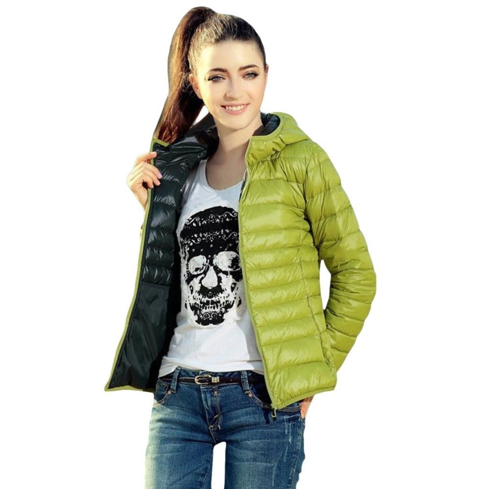 Hooded Outwear Coat 2017 New Autumn Winter Women Warm Solid Color Cotton Jacket Parkas Slim Fit Hood