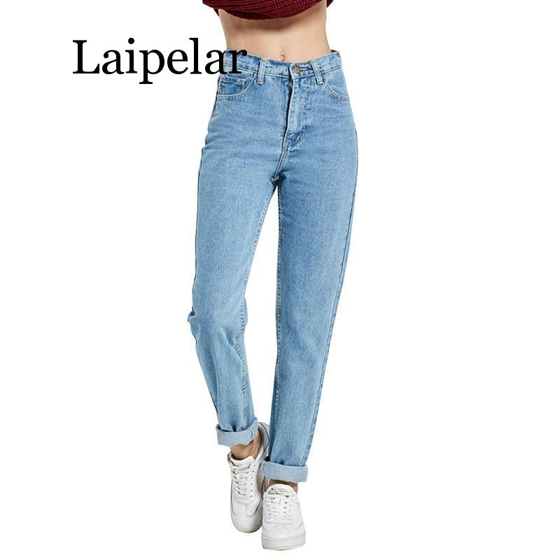 Laipelar 2019 New Slim Harem Pants Vintage High Waist Jeans New Womens Pants Full Length Pants Loose Cowboy Pants new 2020 mx pants