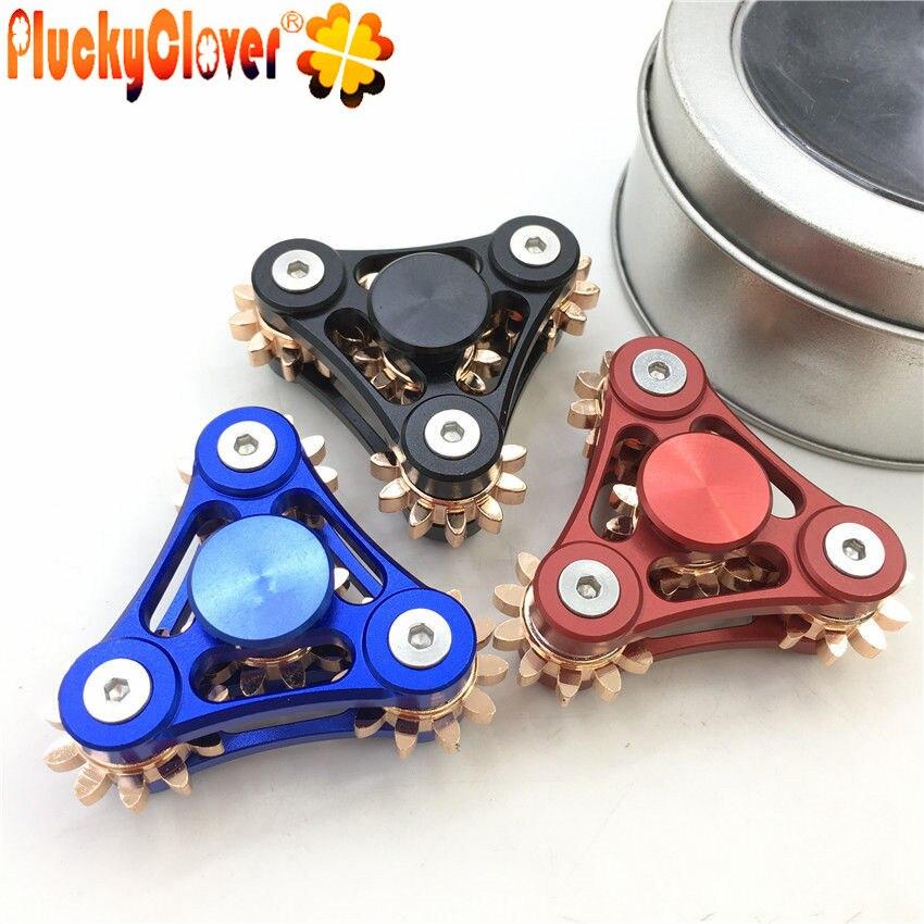 1 pc Dreieck Fidget Spinner Blau Rot Schwarz Metall Figet Spiner Anti Stress Finger Gyro Für kinder Erwachsene Bunte Finger spinner