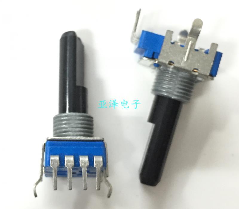 1 шт./лот RK11K Тип 4 контактный одноосный потенциометр B10K Длинный 23 мм усилитель четыре громкости потенциометр