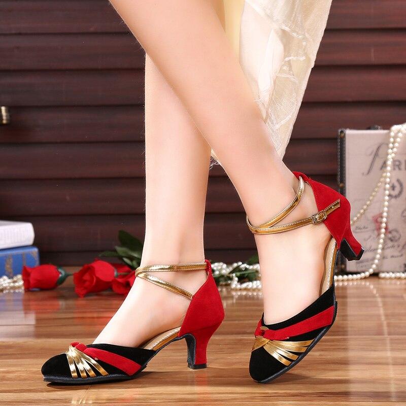 Zapatos De Baile Latino para salón De Baile Latino para Mujer De 916 cm con tacón De 5,5 cm De Material De lijado para exteriores e interiores
