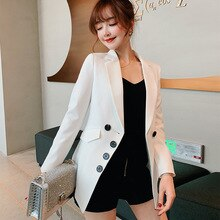 Blazer para mujer, chaquetas y abrigos blancos, Blazer Formal para mujer, chaquetas de trabajo para oficina, abrigo para mujer 2019 femenino