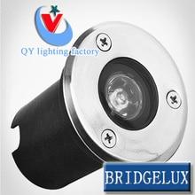 50 pc/lot FEDEX UPS TNT DHL 1W LED lumière souterraine 9W marque 45mil grande puce LED lumière enterrée au sol extérieur lampe encastrée