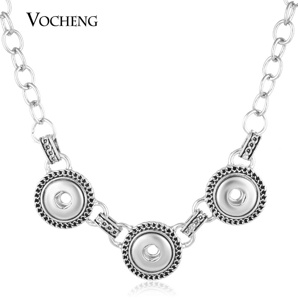 Vocheng botão snap encantos jóias pequeno 12mm liga intercambiáveis pingente colar NN-484