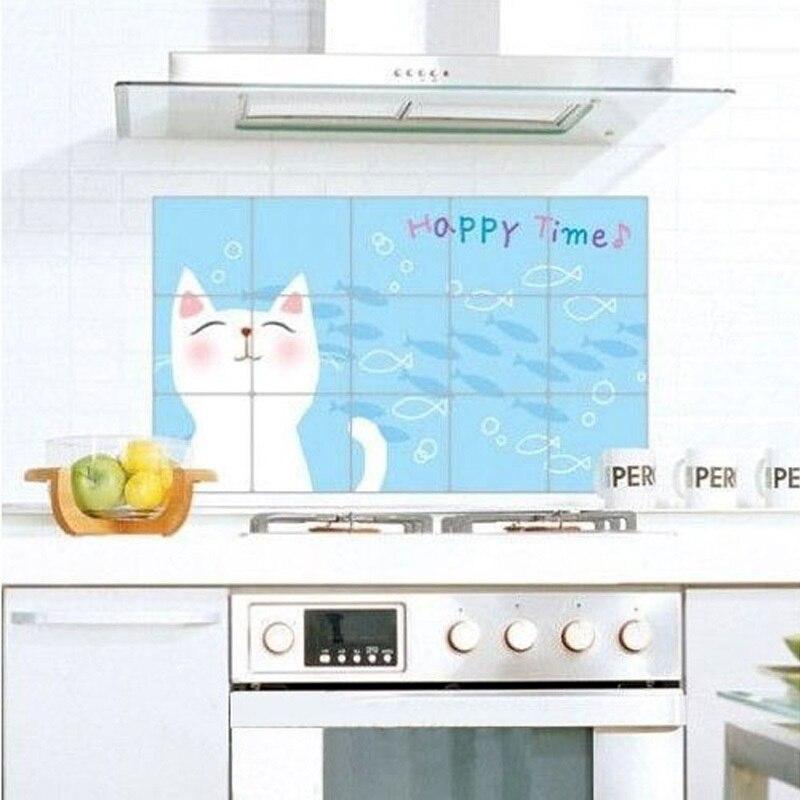 Наклейки на стену с изображением маленькой кошки, наклейки на стену, кухонные наклейки, качественные, устойчивые к высоким температурам, ал...