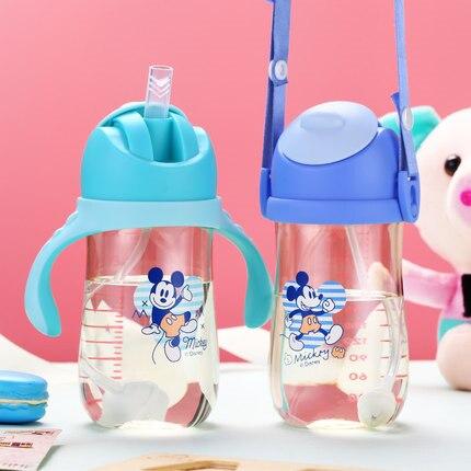 Дисней Дети Сиппи Кубок PPSU безопасности учится осколков анти-разбивания герметичный интеллектуальный датчик температуры ребенка чашки