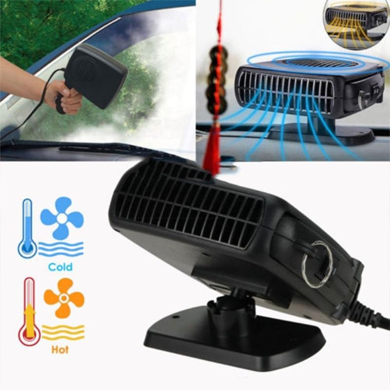 2 In 1 Car Portable Ceramic Heating Cooling Heater Fan Defroster Demister DC 12V