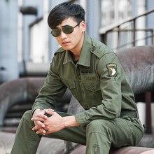 Hommes 101 Division aéroportée chemises Safari chemises Cargo militaire vêtements tactiques hommes armée Bomber haut de vol chemises
