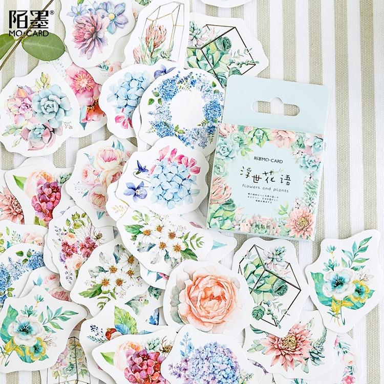 46-unidades-por-paquete-juego-de-pegatinas-decorativas-con-flores-romanticas-para-plantas-album-diario-etiqueta-pegatina-para-album-de-recortes-papeleria-diy-pegatinas-escolares