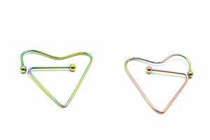 50PCS Body Jewelry- Surgical Steel heart shape Nipple Breast Piercing Nipple Rings Barbells 16g earring ear studs NEW
