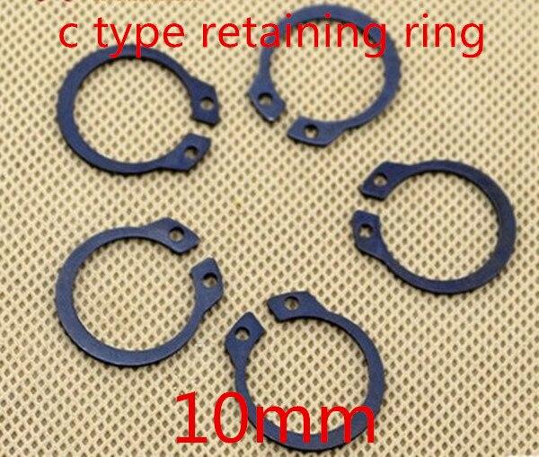 100 ピース/ロット m10 10 ミリメートル c タイプ スナップ リング 、 C型保持クリップ リングワッシャー合金鋼