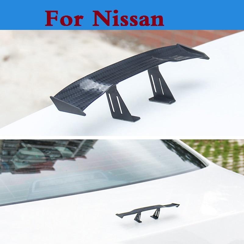 2017 Novo estilo Do Carro auto spoiler mini asa traseira etiqueta para Nissan Qashqai Vampira Sentra Skyline Stagea Crossover Ensolarado Safari