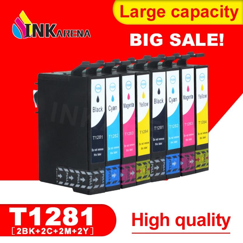 2 комплекта чернильных картриджей 1281 для EPSON Stylus S22 SX125 SX130 SX230 SX235W SX420W SX425W SX430W SX435W, полный принтер с чернилами