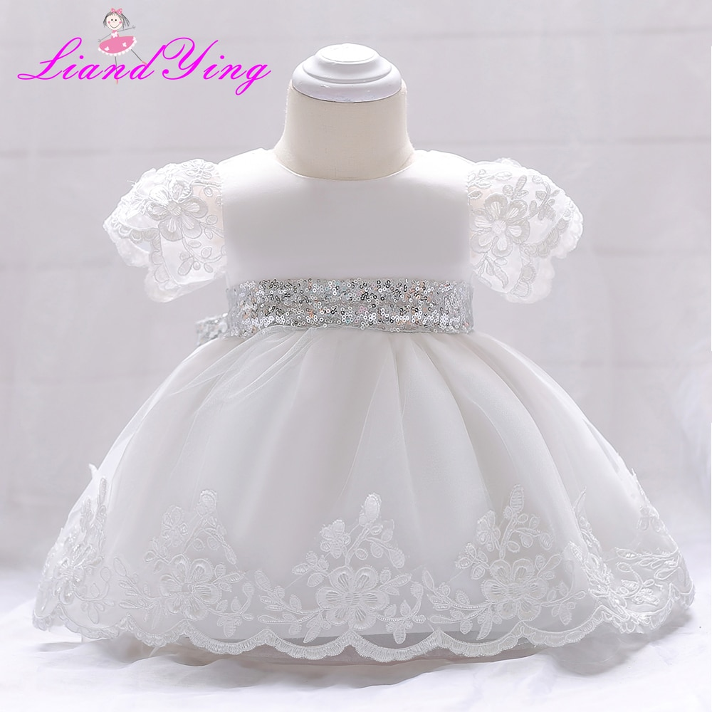 Vestido de bebé niña flor vestido de boda infantil princesa 1 año Primer cumpleaños fiesta de recién nacido vestidos de bautizo del Bebé Vestidos