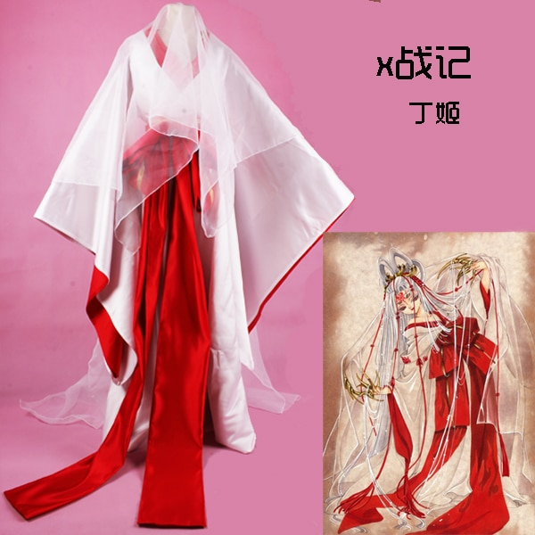 X CLAMP Hinoto Frauen Cos Anime Partei Cosplay Kostüm Uniform Hexe Kinomo Nach Maß Kleid