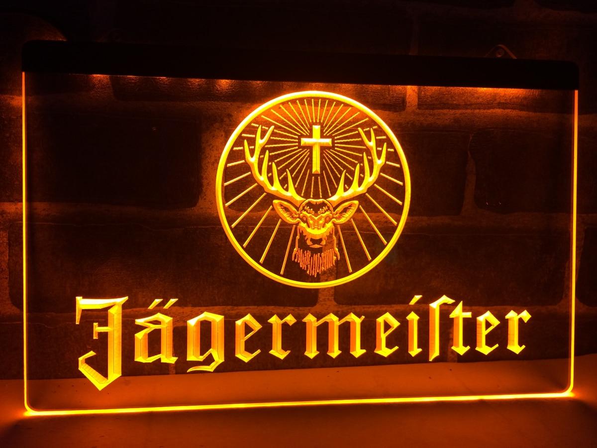 LR061 Jagermeister signo de LED neón de cabeza de ciervo