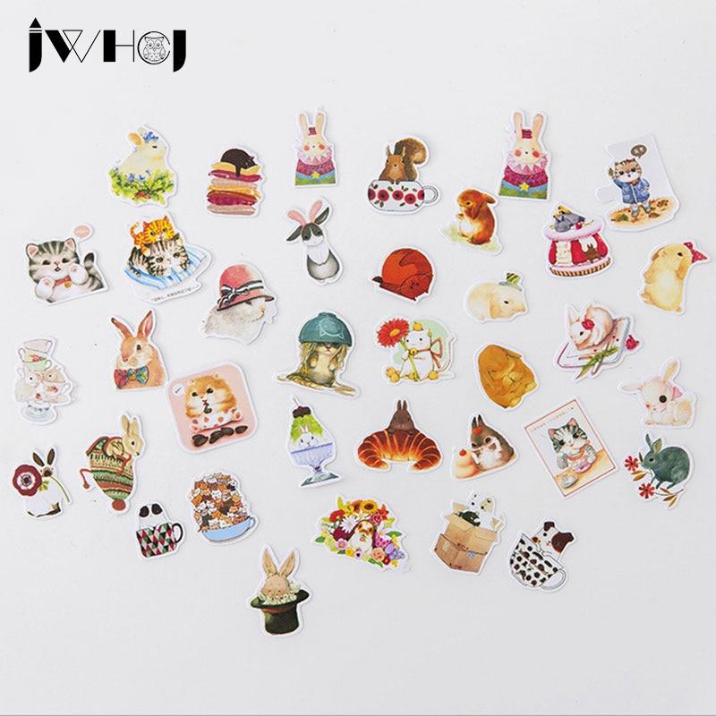 35 pcs/bag Cute small animals paper sticker children diy Handmade Gift Card photo album Scrapbook diary decoration stickers
