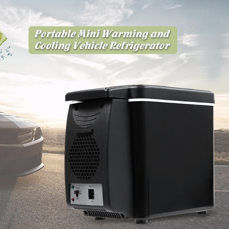 Refrigerador de coche 6L, congelador, calentador eléctrico de dos tipos para viajes, senderismo, Camping, exterior, nevera de doble uso para coche