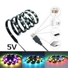 WS2812B 2812 podświetlenie TV taśma LED Light 5 V USB 5050 RGB hd pulpit PC oświetlenie ekranu 50 CM 1 M 2 M 3 M z 3key kontroler USB