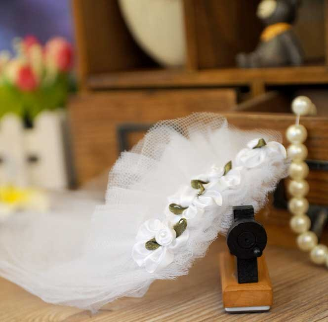 Veil for Dogs Glamorous small Dog Pet Cat Wedding  veil dress Bride Dog Costume White Tulle Veil dog wedding hair accessory