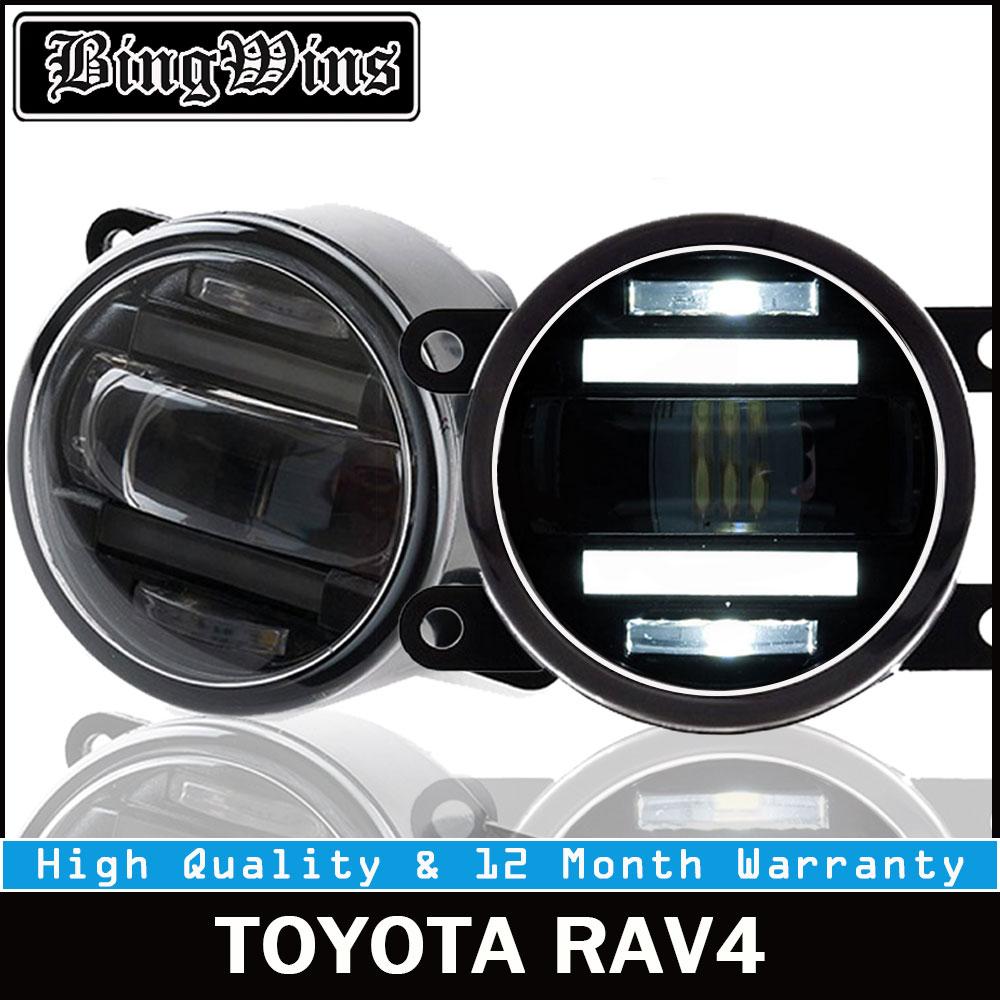 BEINGWINS 2009-2012 para Toyota RAV4 faros antiniebla LED DRL + turnsignal coche con luces estilo LED luces de circulación diurna LED luces antiniebla