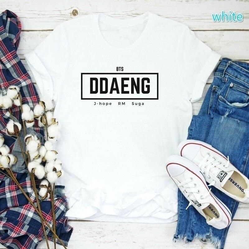 Sunfiz YF DDAENG Marco de 1-800-balancín Suga T camisa Coreana de moda camiseta Epifanía ídolo Taehyung Jungkook Jimin Jhope RM Jin