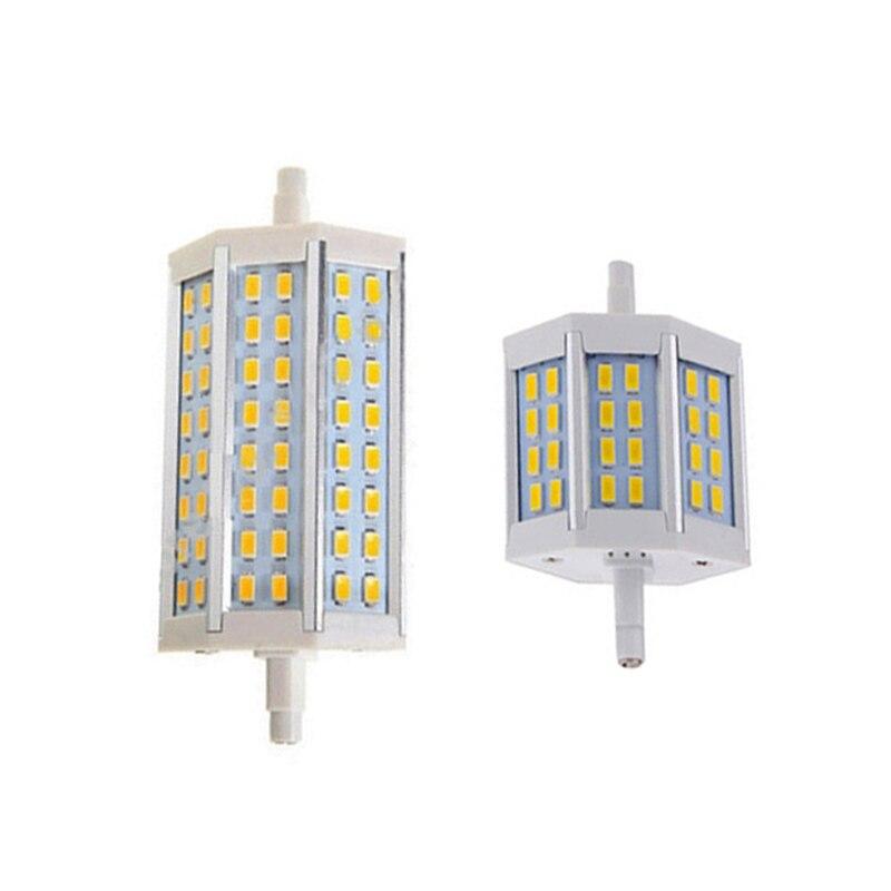 R7s lâmpada led smd 5730 15 w 25 78mm 118mm AC85-265V j78 j118 lâmpada led spotlight substituir halogênio holofote lâmpada
