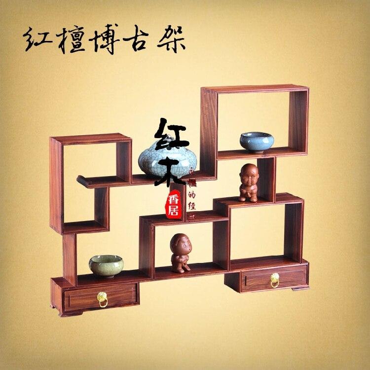 Incienso de palisandro Jumu curio estante gongtan China Ming estilo simple fina tetera antigua