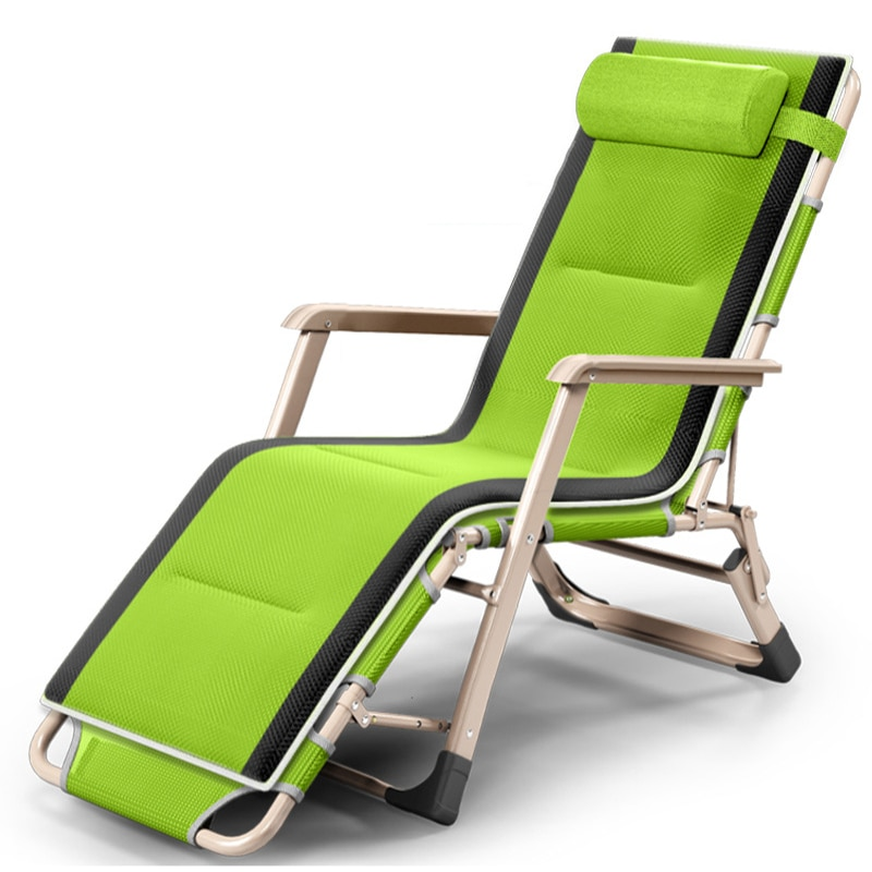 Outdoor or indoor adjustable nap recliner chair folding deck chair Beach chair with Steel Pipe frame Moisture absorption eco friendly cedarwood outdoor sun loungers folding deck chair sling chair beach lounge recliner