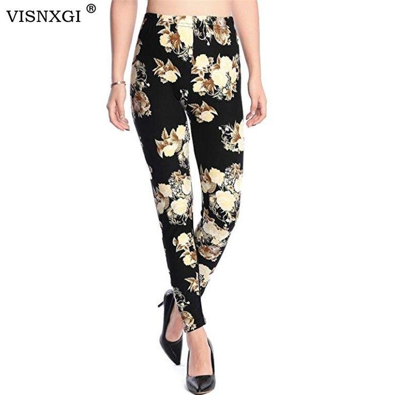 Новинка, леггинсы с принтом розы, модные, сексуальные, женские, тонкие, высокие, эластичные, хлопковые брюки, много цветов, стильные брюки в наличии
