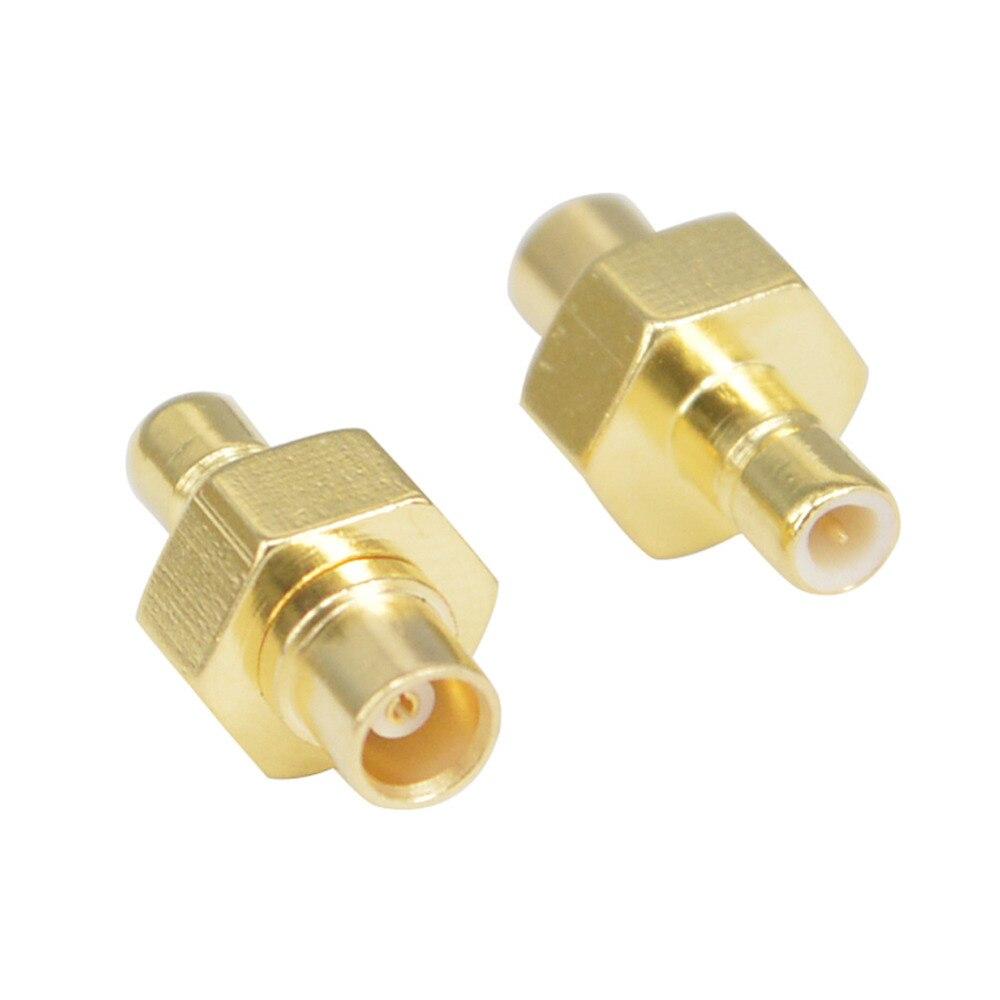 2 piezas SMB-MCX RF adaptador SMB a MCX Kit SMB a MCX macho hembra RF adaptador conector coaxial