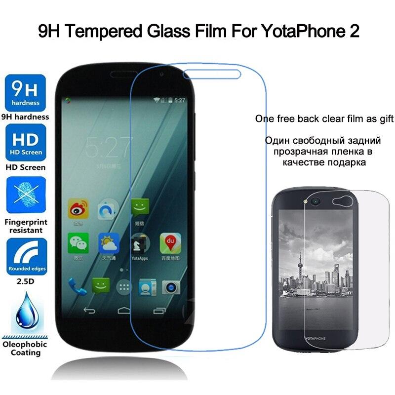 Protector de pantalla de vidrio templado de alta calidad para Yotaphone 2 Protector de vidrio película protectora frontal para Yota YotaPhone 2
