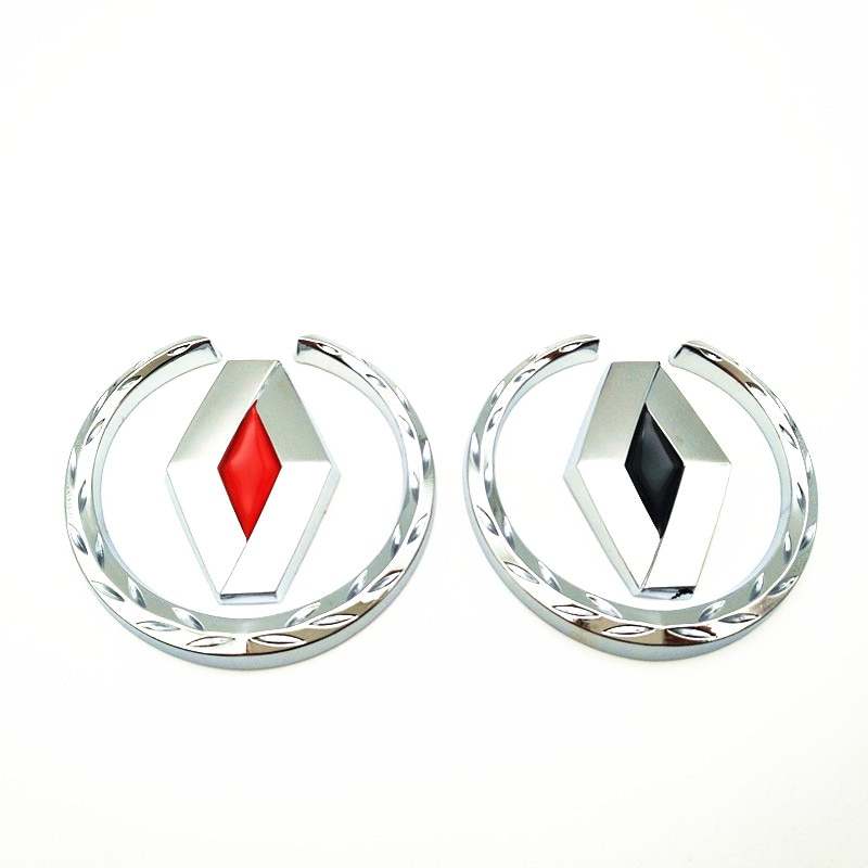 FDIK car styling case for renault duster megane 2 logan Scenic TwinGo  clio metal Badge sticker metallic emblem car accessories
