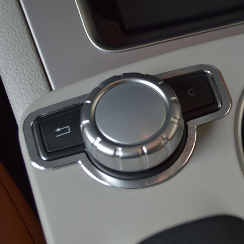 Auto Center Konsole Multimedia Knopf Rahmen Dekoration Aufkleber Trim Für Mercedes Benz C Klasse W204 2008-14 Innen Abziehbilder