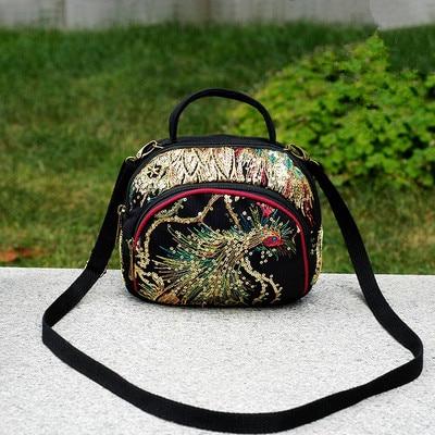 Boêmio boêmio bolsa de ombro & crossbody sacos de ombro de senhora bordado floral