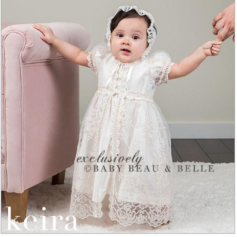 2019 vestido blanco para niña, vestido para bebé, artículos para bebé, bautismo, bautizo, vestido para niña recién nacida, ropa con diseño de encaje, traje de cumpleaños 2Y