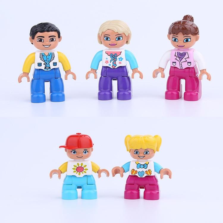 Mailackers Duplo Mom and Dad Uncle Aunt personaje familiar bloques Duploed ladrillos juguetes educativos niños Mailackers