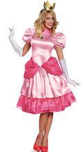 Halloween Fantasia Adult Princess Peach Pink Fancy Dress