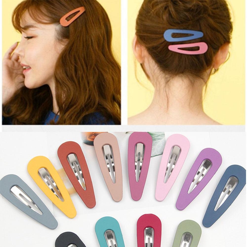 Корейская женская заколка для волос, 2 шт., красивая винтажная шпилька для волос карамельных цветов, ВВ, с каплями воды, милые блестящие шпиль...