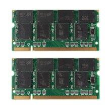 YOC-5 * Hot 2 GB 2X1 GB PC2700 DDR-333 Niet-ecc 200-Pin CL2.5 Laptop (SODIMM) geheugen (RAM) Nieuwe
