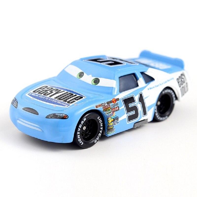 Coches de Disney Pixar coches No.51 fácil Idle Metal Diecast coche de juguete 155 suelto marca nueva Disney Cars2 y Cars3 envío gratis