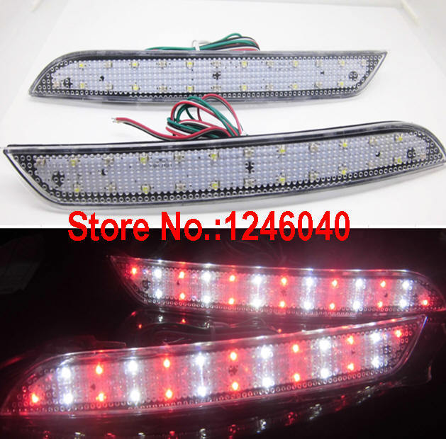 Lente clara LED parachoques trasero reflector luz trasera freno parada luz intermitente lámpara para BMW nueva serie 5 F10 F11 F18 2011-2014