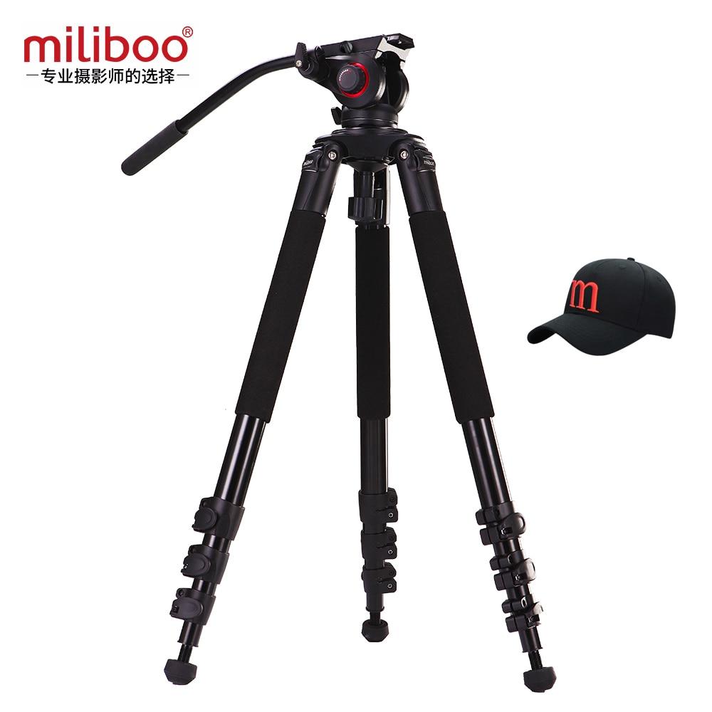 Miliboo MTT702A ترايبود جديد المحمولة 25 كجم قدرة الألومنيوم monopod حامل المهنية كاميرا حوامل ل كاميرا dslr