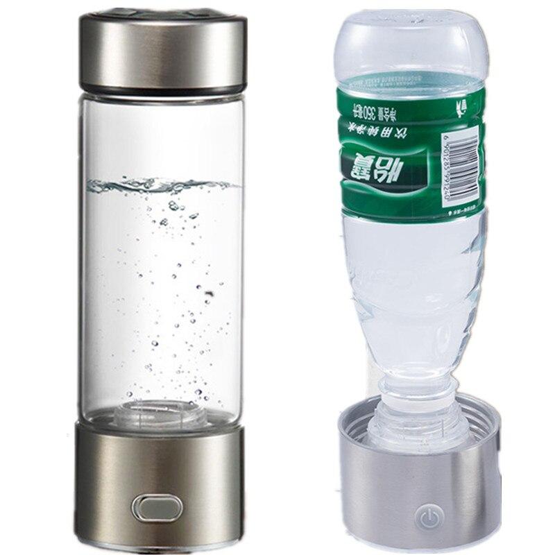 Generador de agua rico en hidrógeno de doble uso copa de agua electrólisis SPE rico en hidrógeno antioxidante alcalino ionizador de agua botella