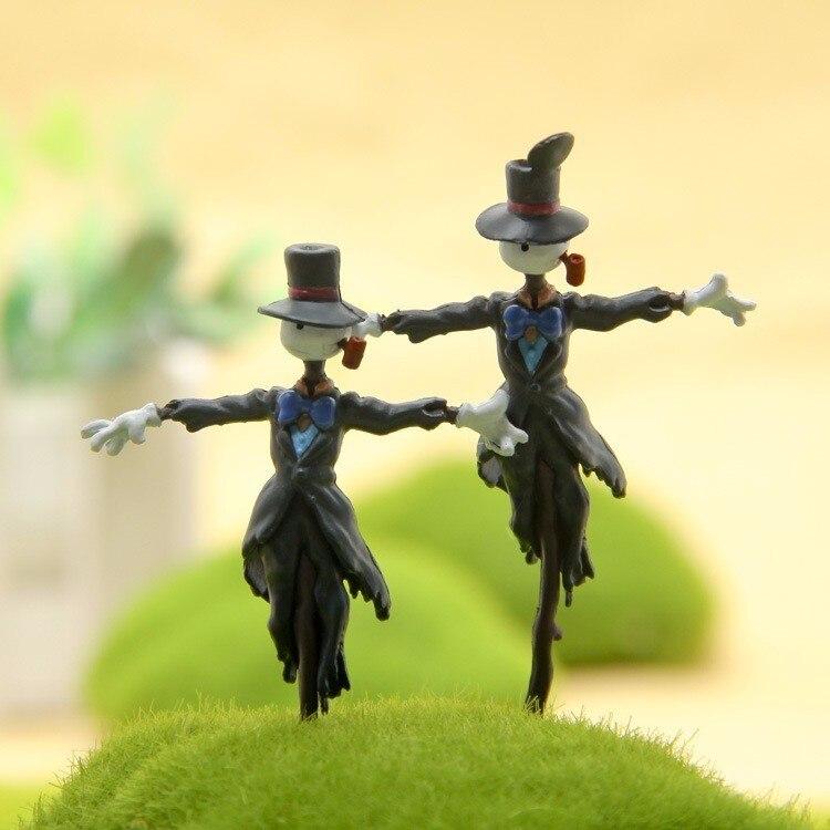 Estúdio quente ghibli howl movendo castelo kakashi kabu pvc figura de ação diy miyazaki coleção modelo de brinquedo para o miúdo paisagem figura