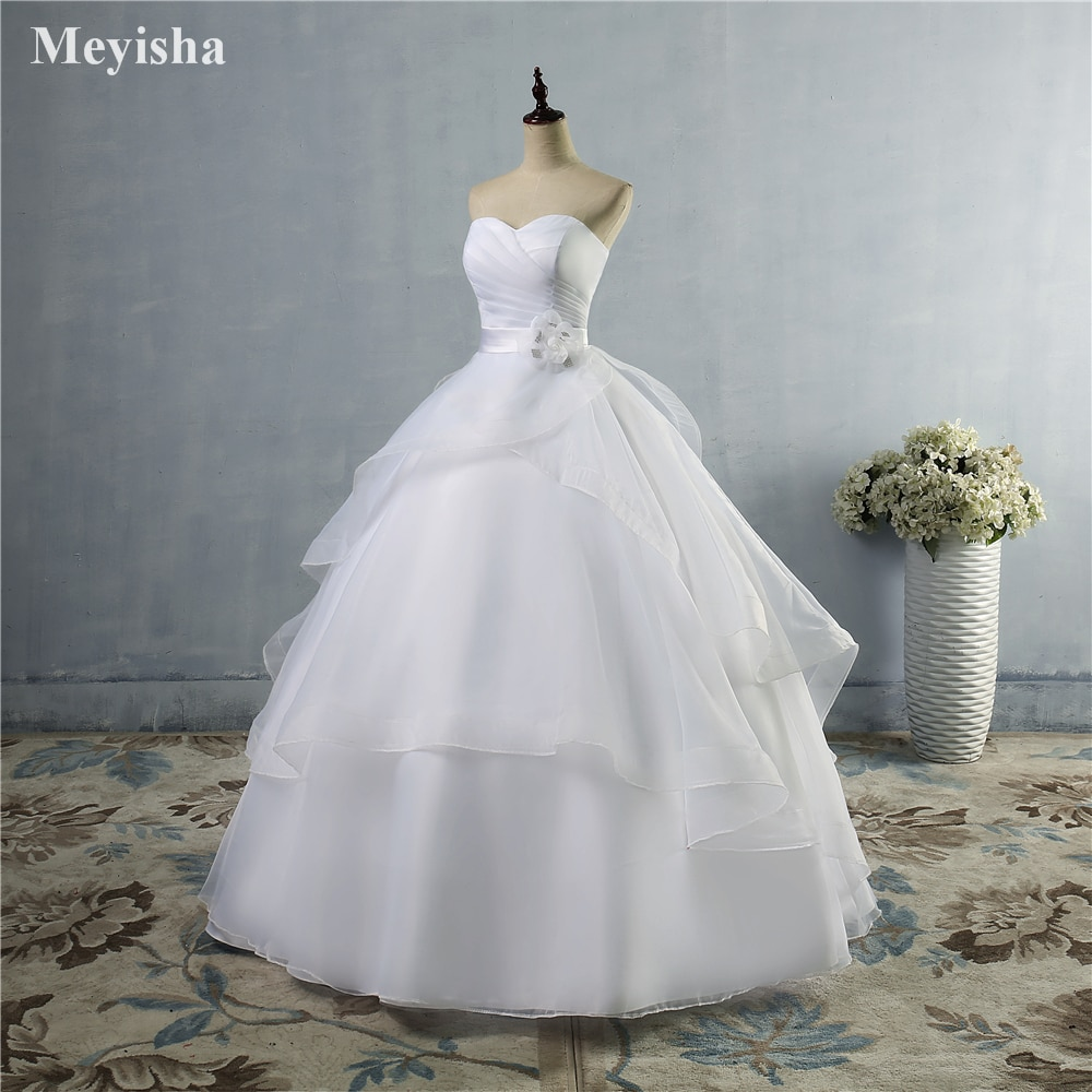 ZJ9043-Vestidos De Novia De alta calidad, color blanco marfil, con cordones en...
