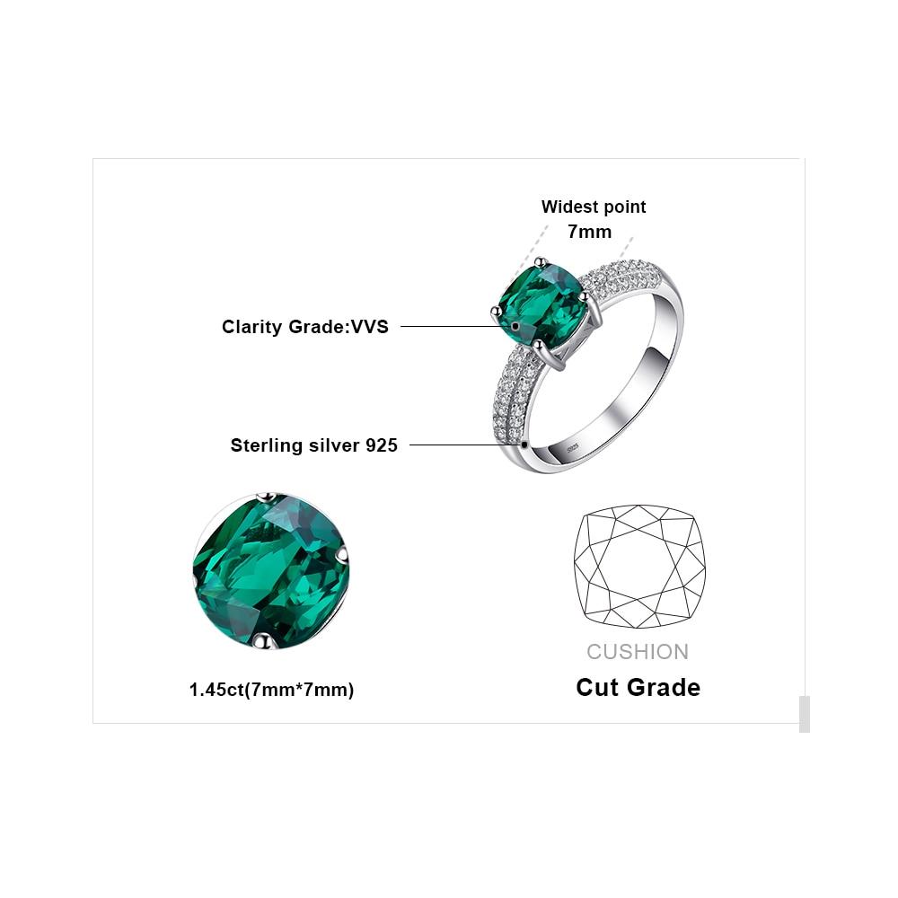Купить с кэшбэком JewelryPalace Created Emerald Ring Pendant Hoop Earrings Wedding  Jewelry Sets 925 Sterling Silver Jewelry Gemstone Fine Jewelry