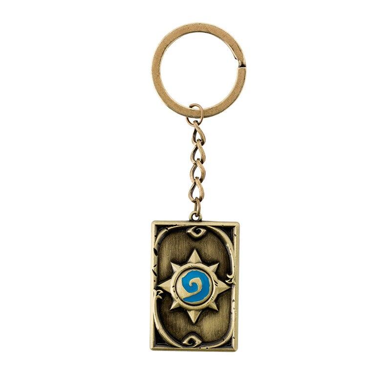 WOW hearth juego llavero piedra llavero de regalo para hombres mujeres bolso coche accesorios, llave anillo llavero de Metal regalo para niños
